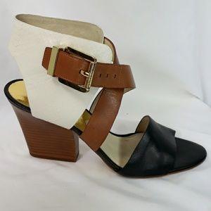 Michael Michael Kors block heel snake print sandal